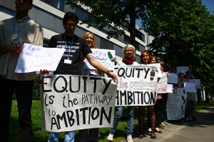 Youngos in Bonn demonstrating in support of equity