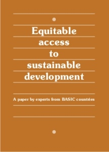 Equitable Access to Sustainable Development Basic Experts Group report cover