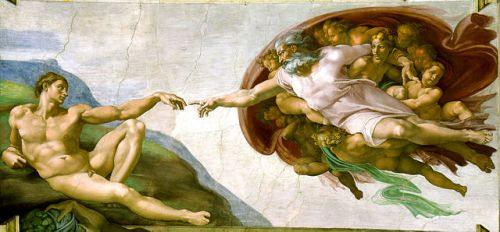 God and Adam (Michelangelo, Sistene Chapel)