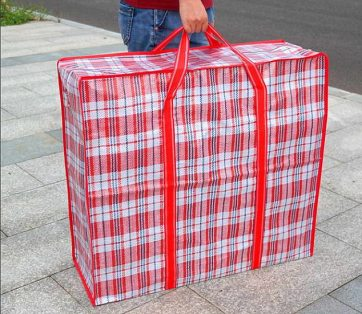 Tartan laundry bag